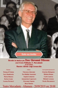 Ricordo in musica per Don Giovanni Dileone